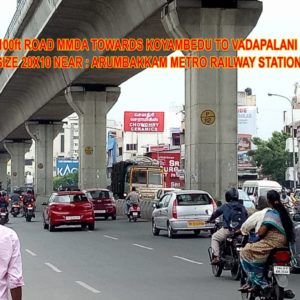 Adinn-outdoor-billboard-100 Ft towards koyambedu to vadapalani, Chennai